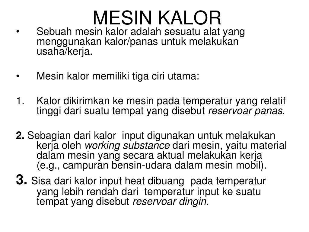 MESIN KALOR