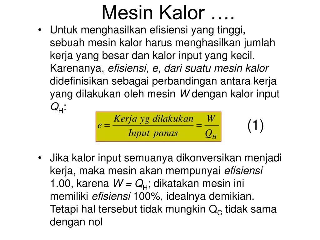 Mesin Kalor ….