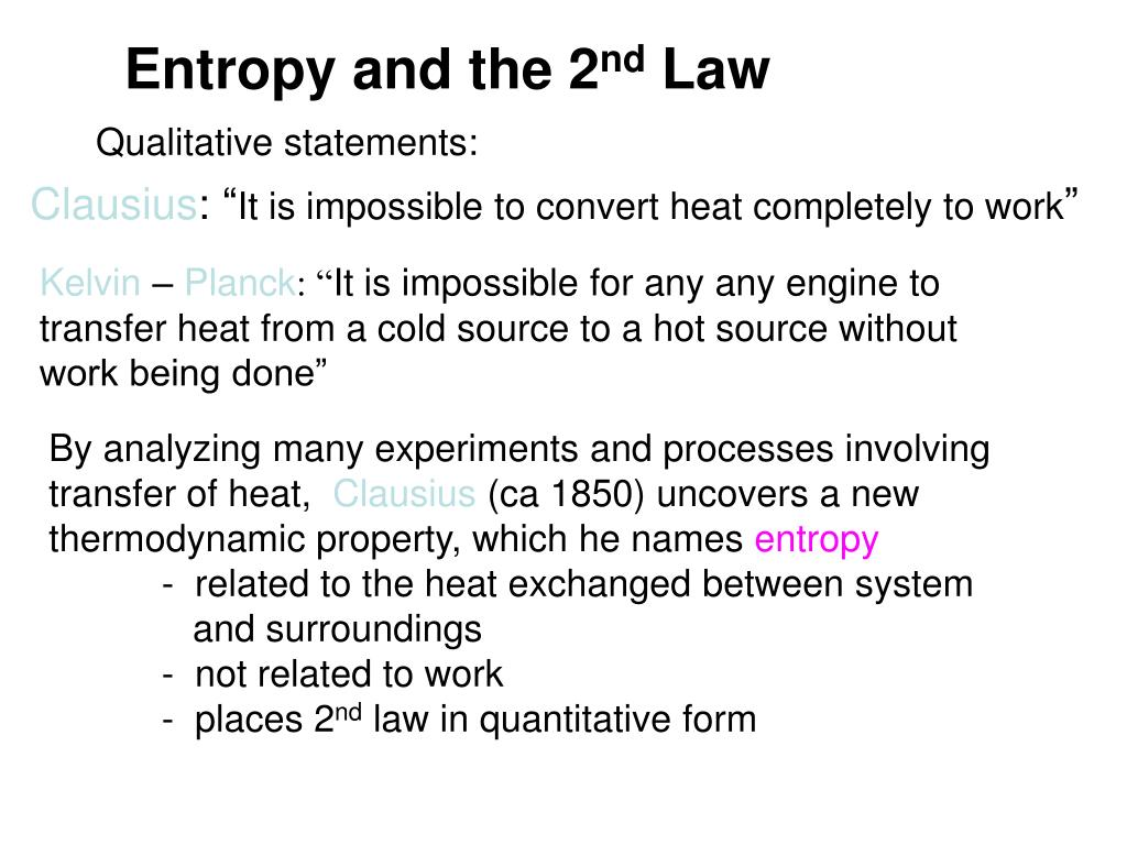 Entropy and the 2