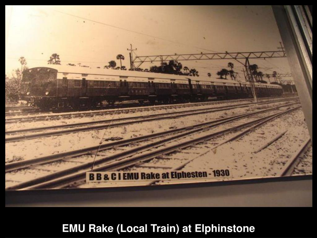 EMU Rake (Local Train) at Elphinstone