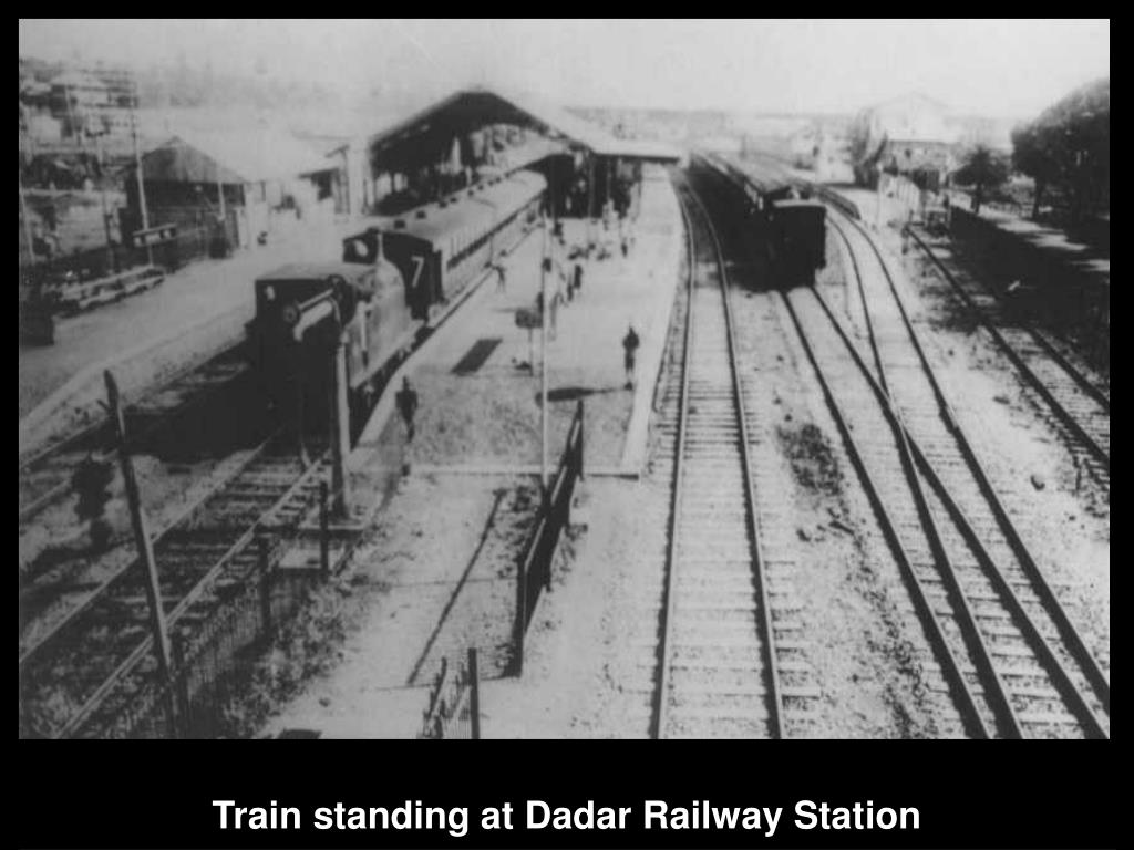 Train standing at Dadar Railway Station