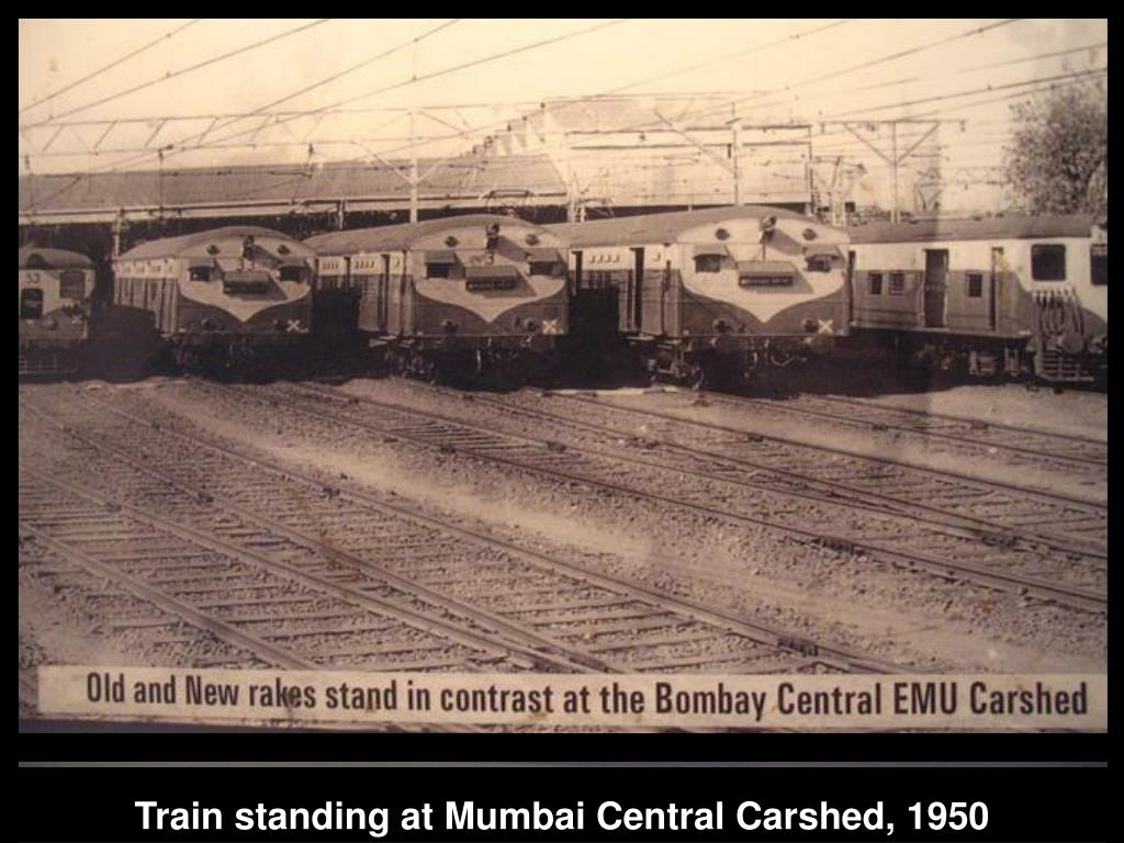 Train standing at Mumbai Central Carshed, 1950