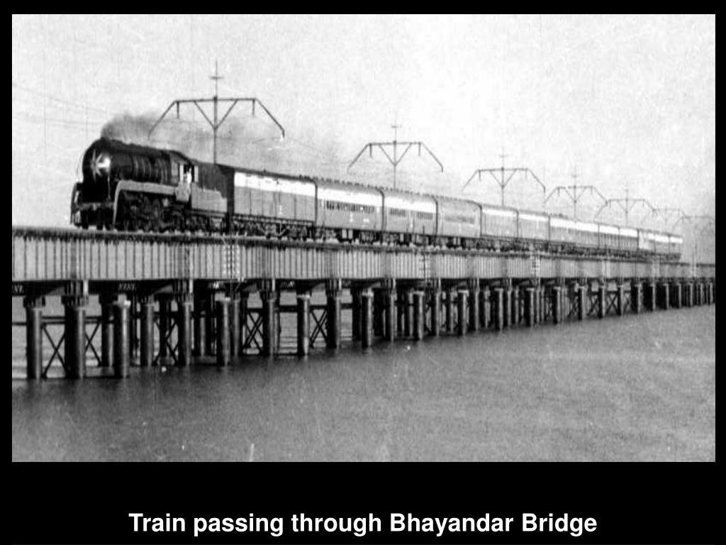 Train passing through Bhayandar Bridge