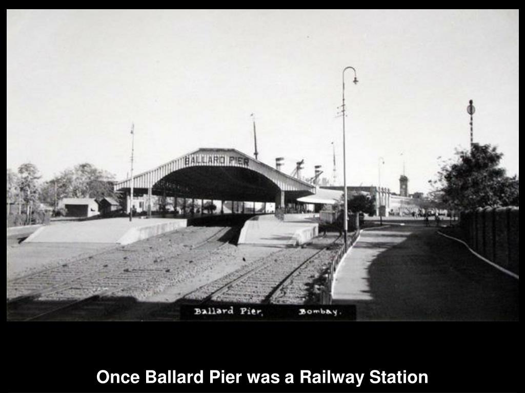 Once Ballard Pier was a Railway Station