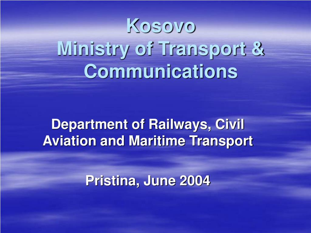 kosovo ministry of transport communications