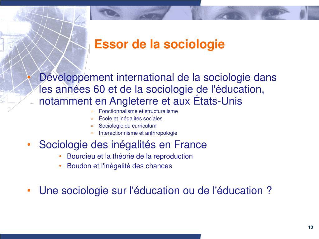 Essor de la sociologie