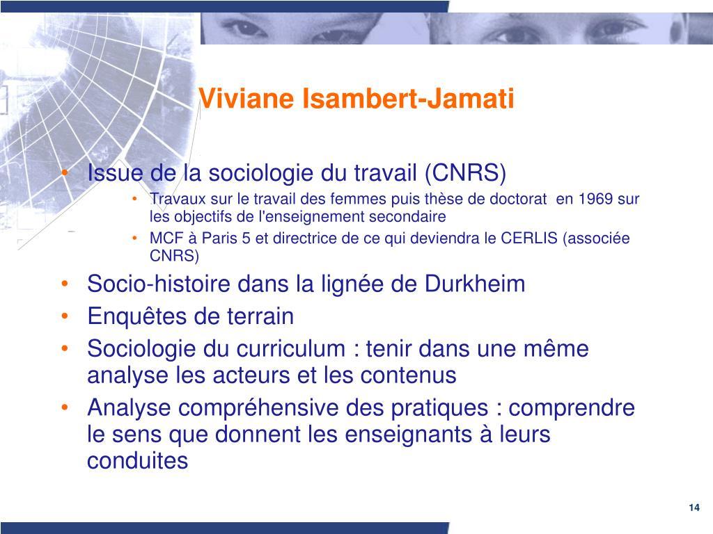 Viviane Isambert-Jamati