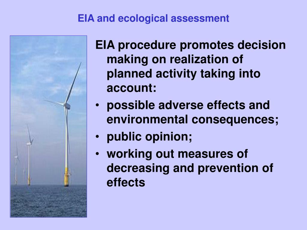 EIA and ecological assessment