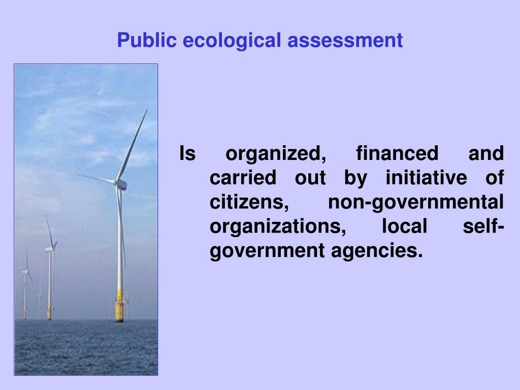 Public ecological assessment