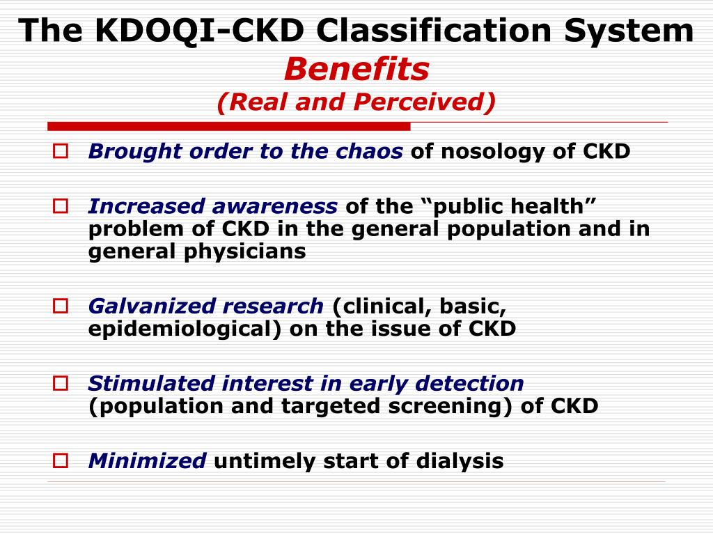 The KDOQI-CKD Classification System