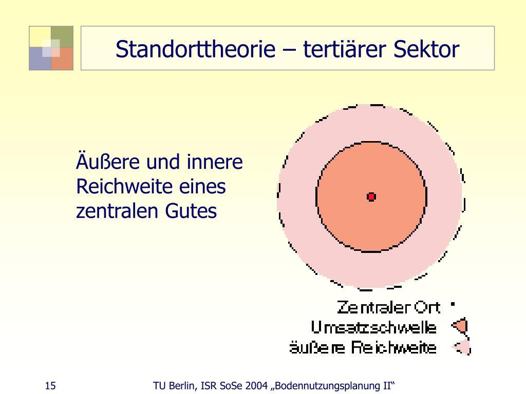 Standorttheorie – tertiärer Sektor