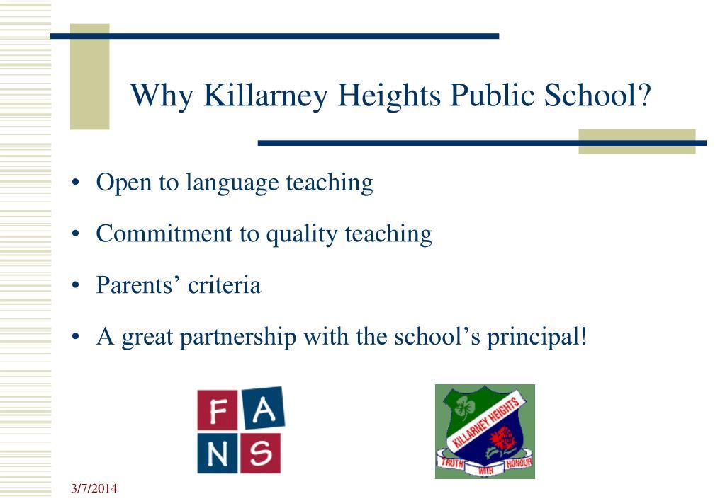 Why Killarney Heights Public School?