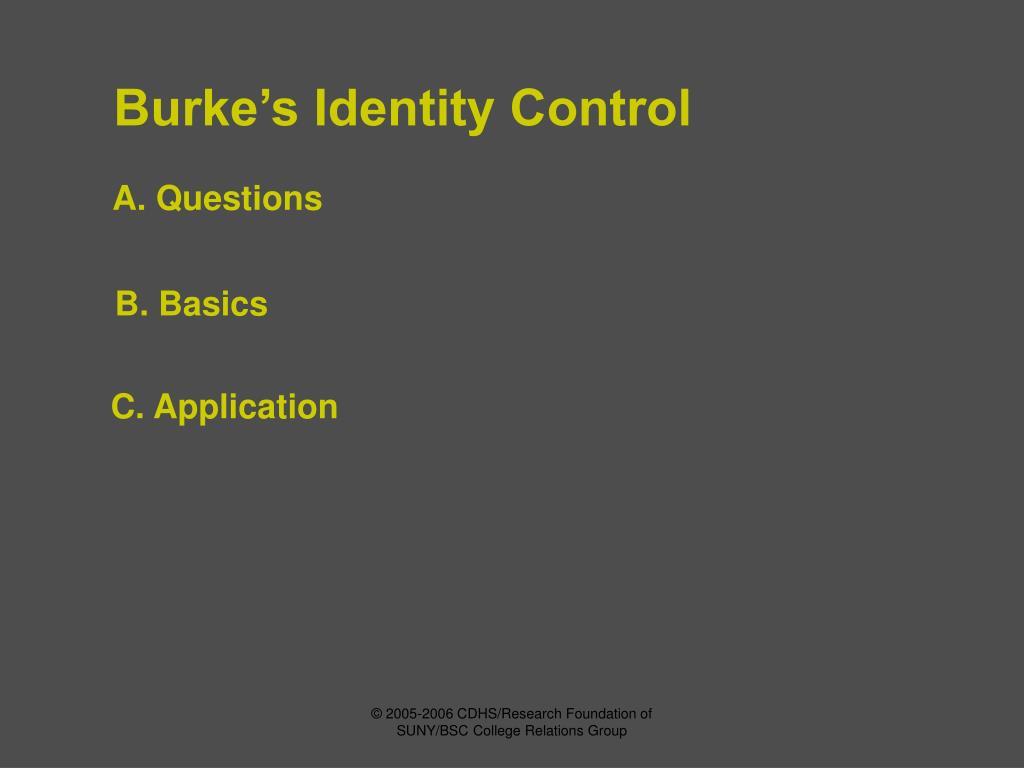 Burke's Identity Control