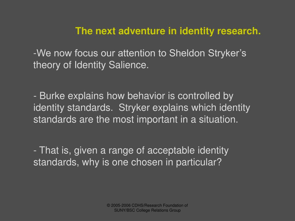 The next adventure in identity research.
