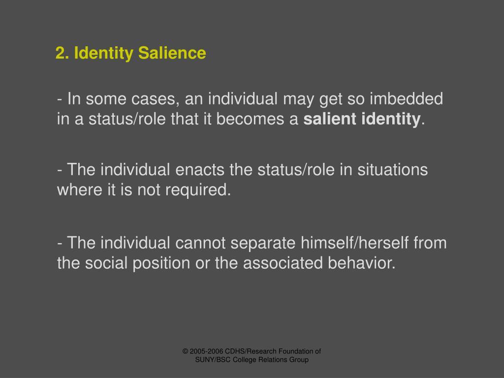 2. Identity Salience