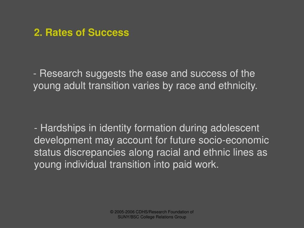 2. Rates of Success