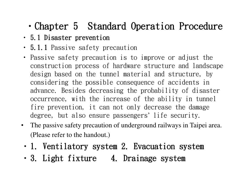 Chapter 5  Standard Operation Procedure