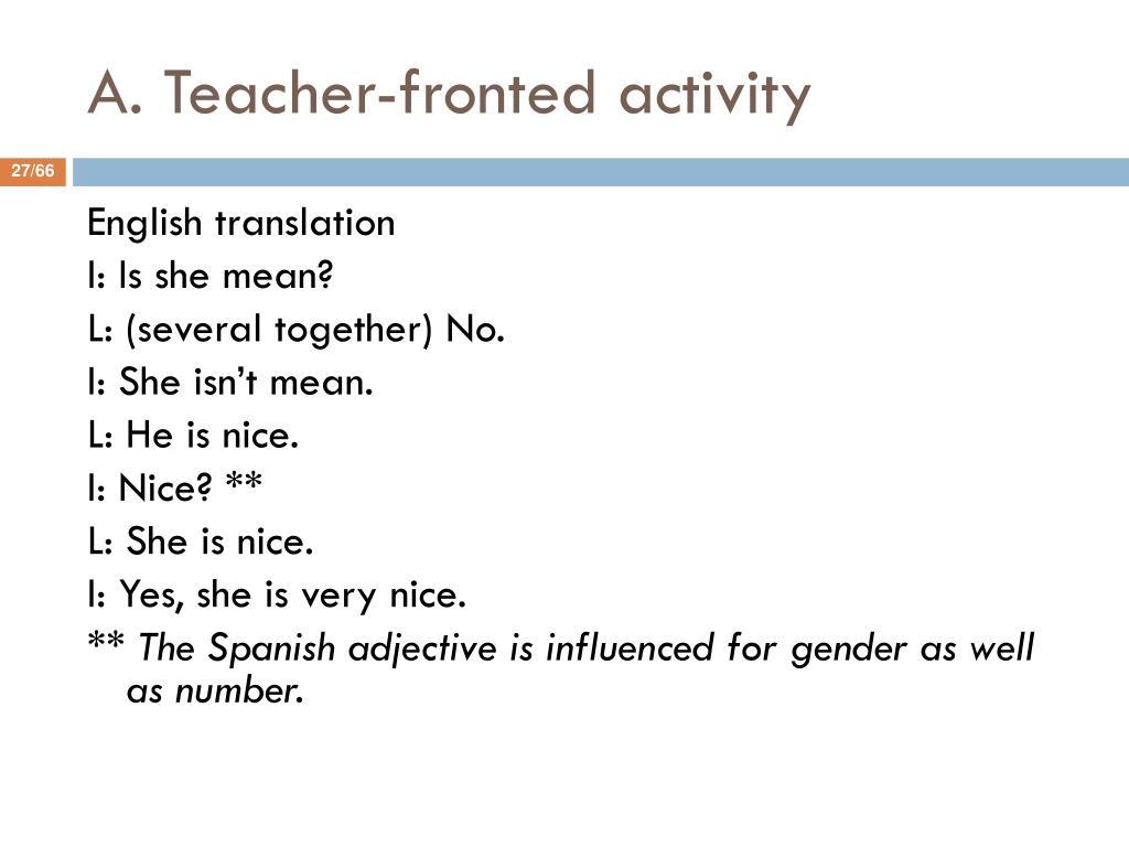 A. Teacher-fronted activity