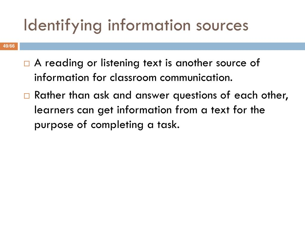 Identifying information sources