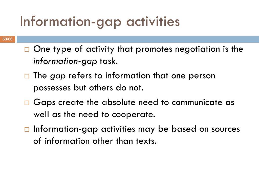 Information-gap activities