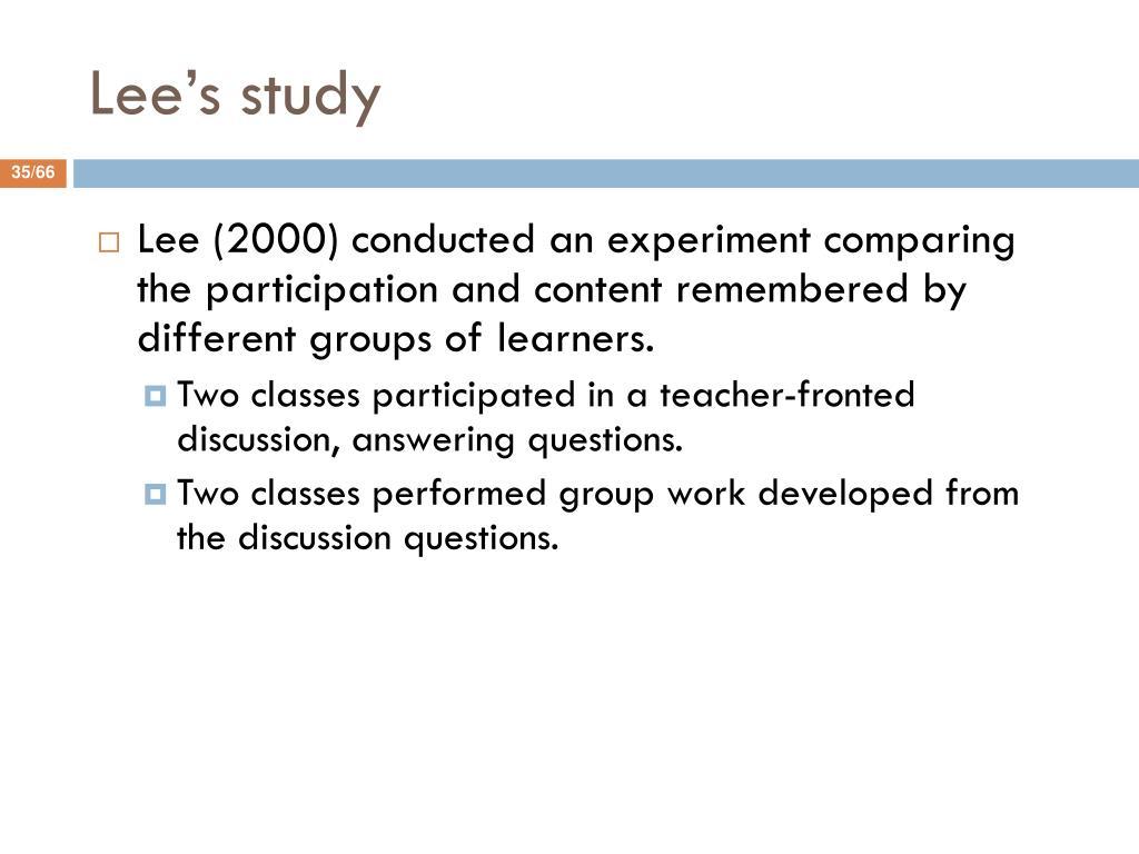 Lee's study
