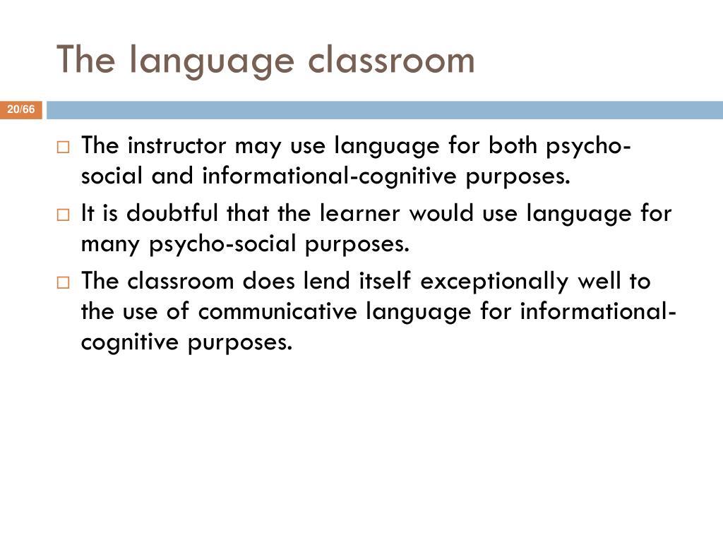 The language classroom