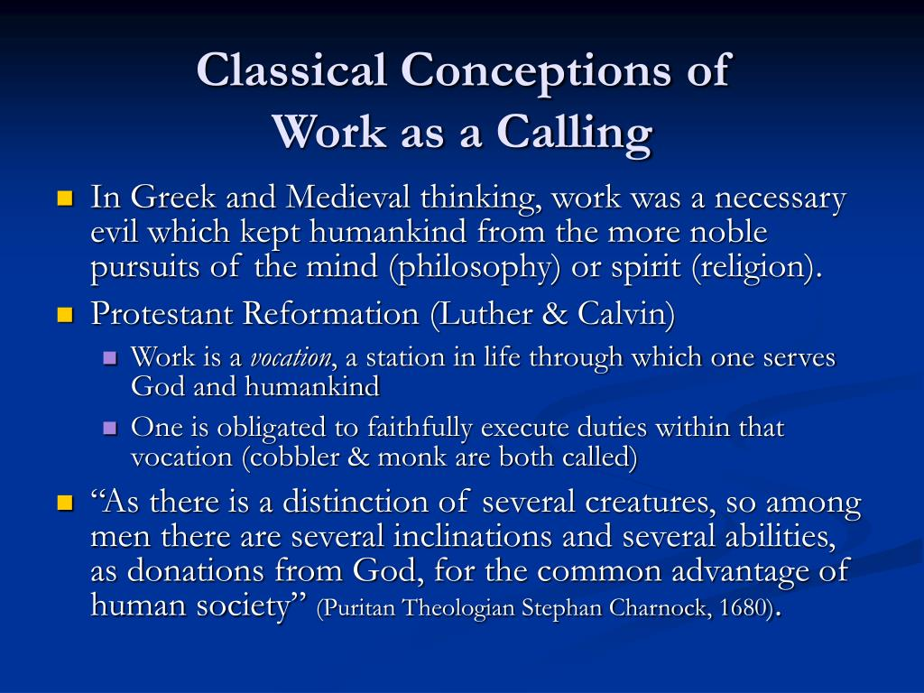Classical Conceptions of
