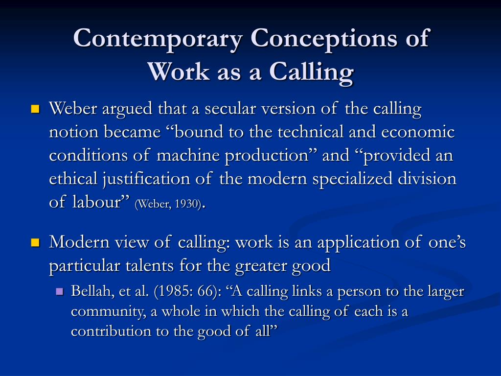 Contemporary Conceptions of