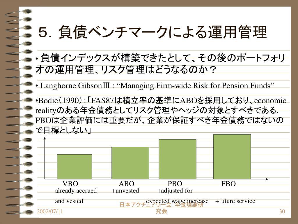 5.負債ベンチマークによる運用管理