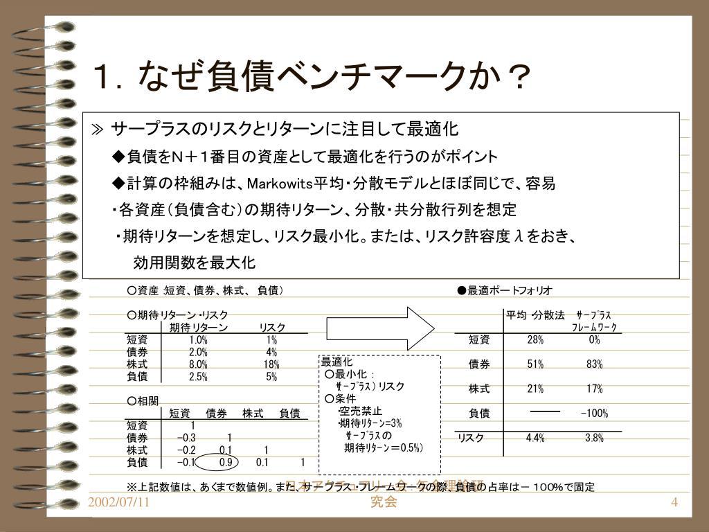 1.なぜ負債ベンチマークか?
