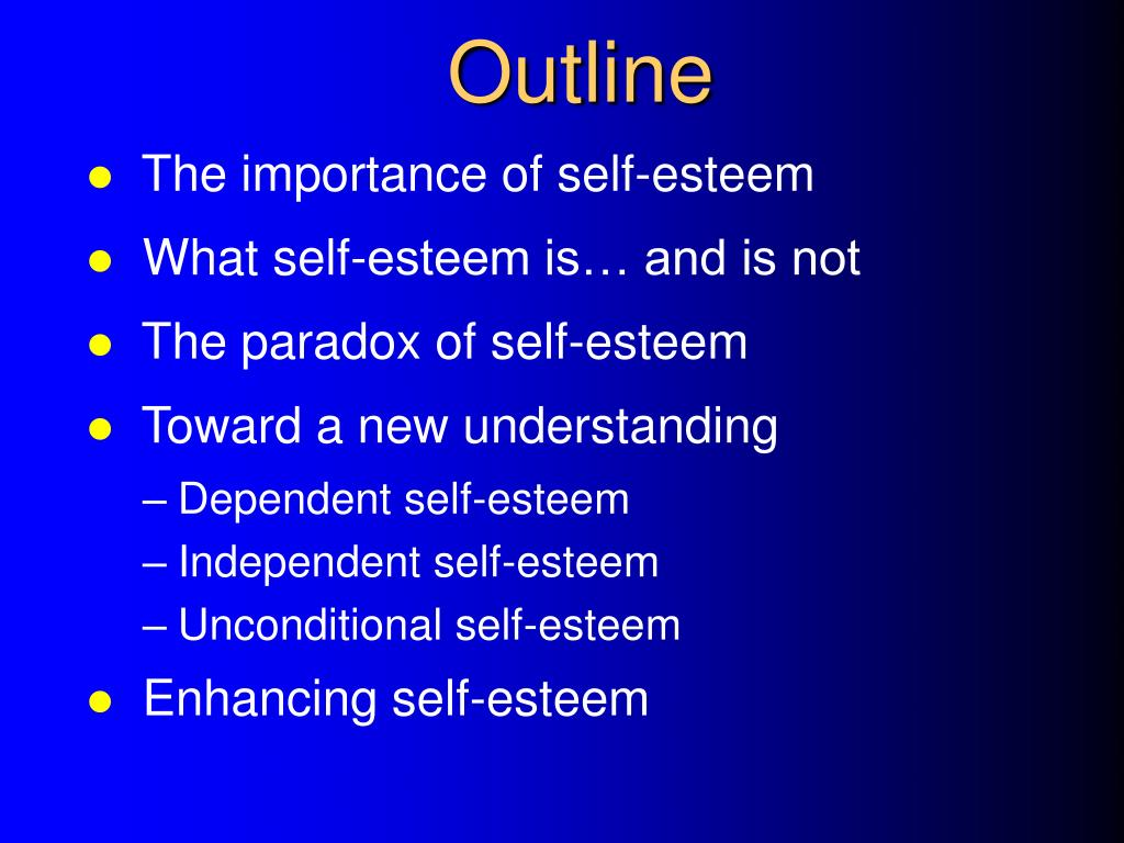 Presentation self esteem