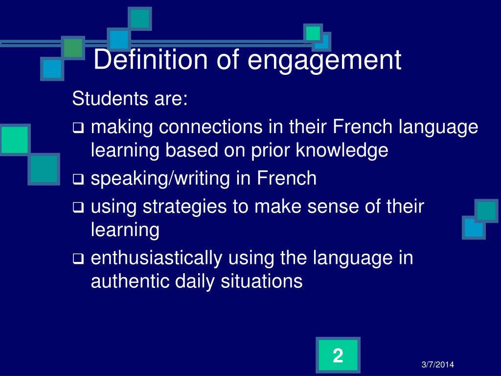 Definition of engagement