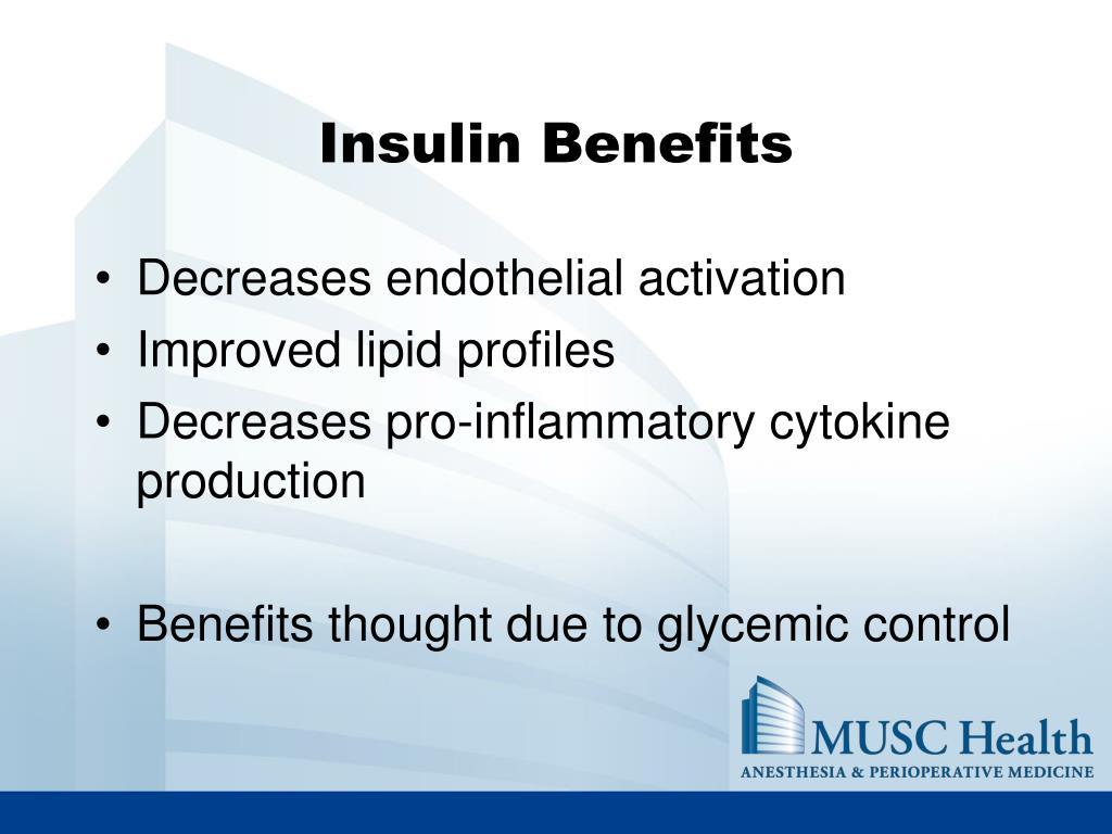 Insulin Benefits
