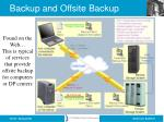 backup and offsite backup