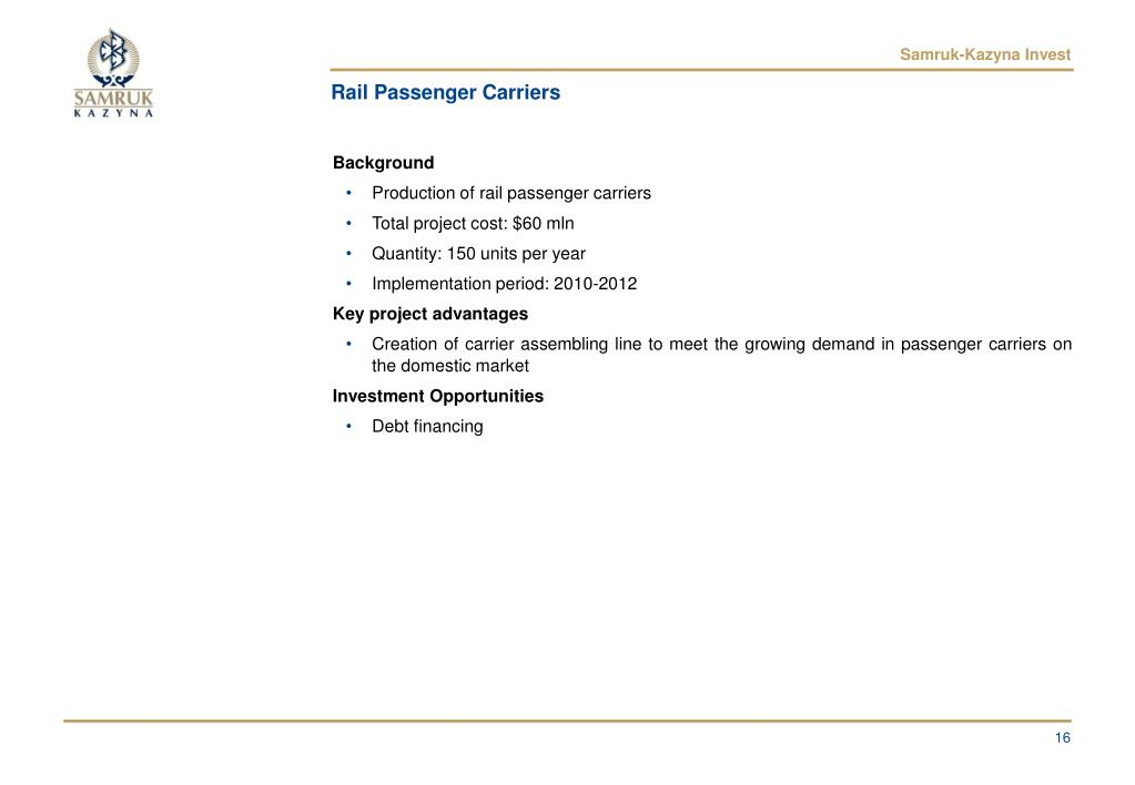 Rail Passenger Carriers