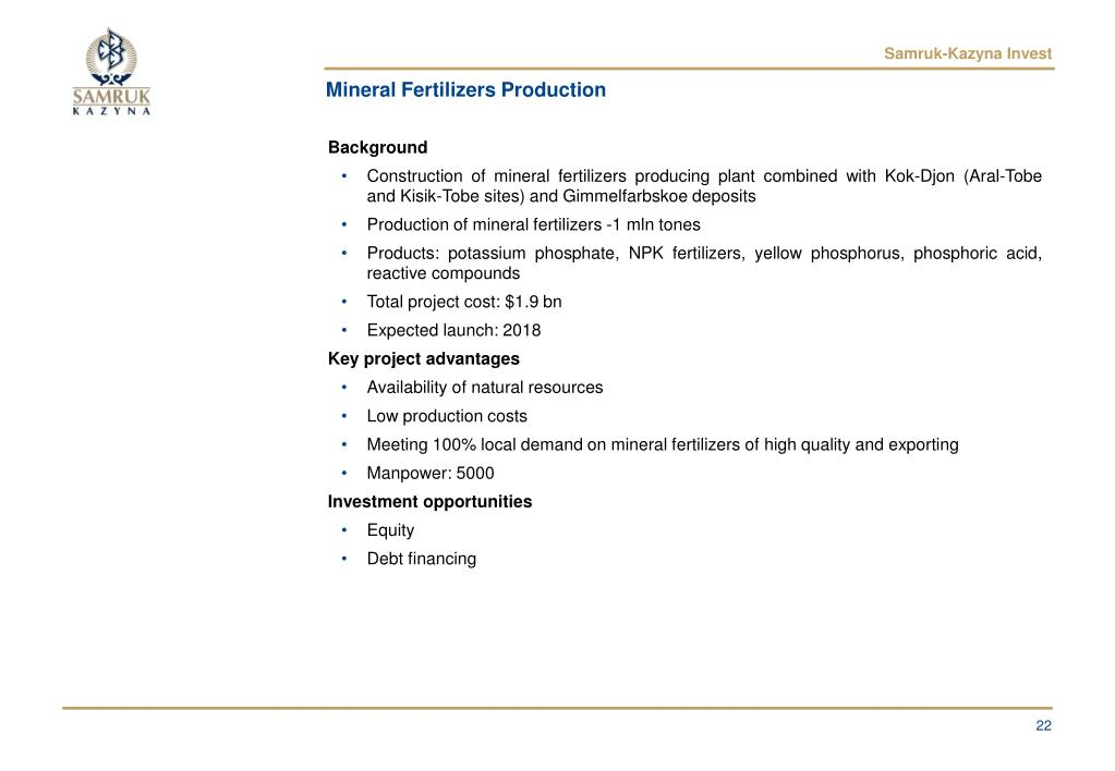 Mineral Fertilizers Production