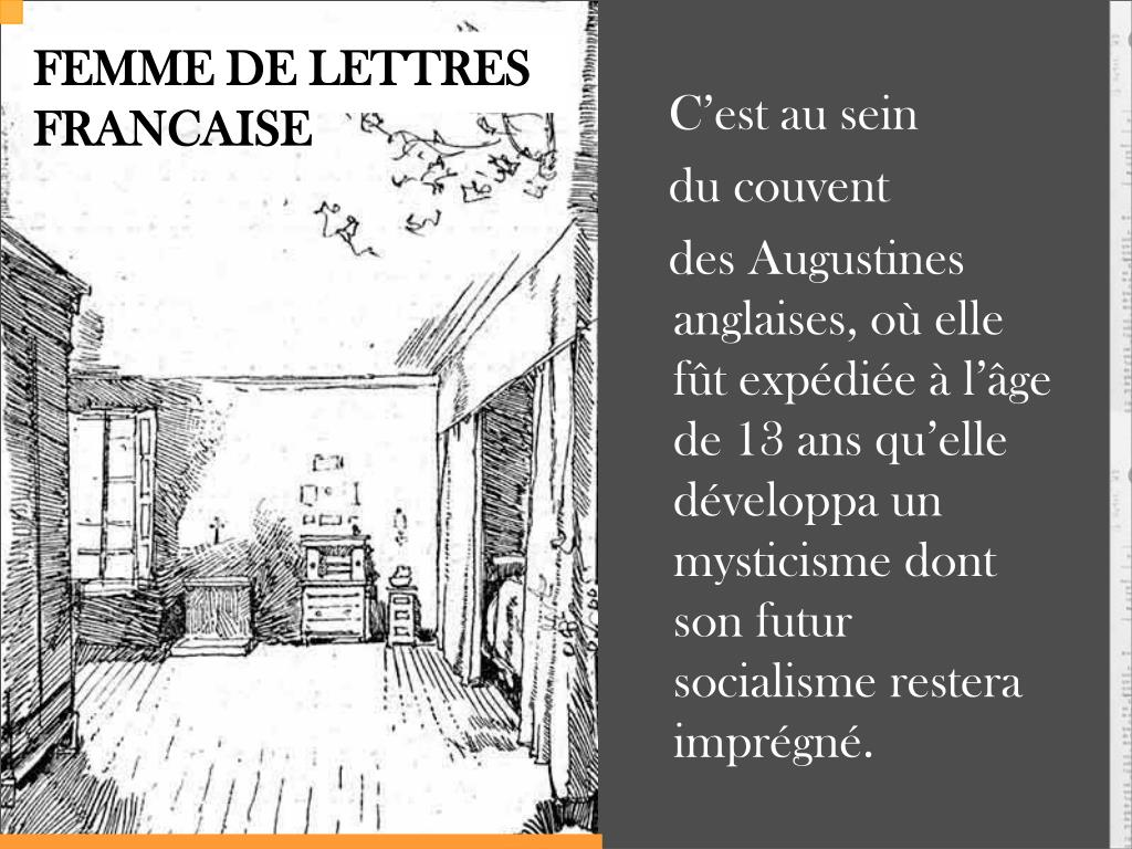 FEMME DE LETTRES FRANCAISE