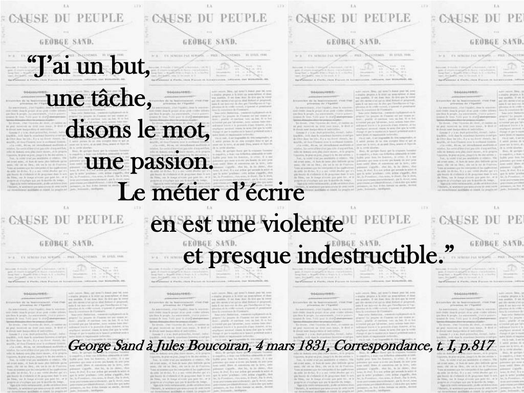 """""""J'ai un but,"""