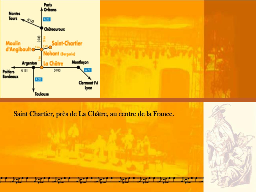 Saint Chartier, près de La Châtre, au centre de la France.