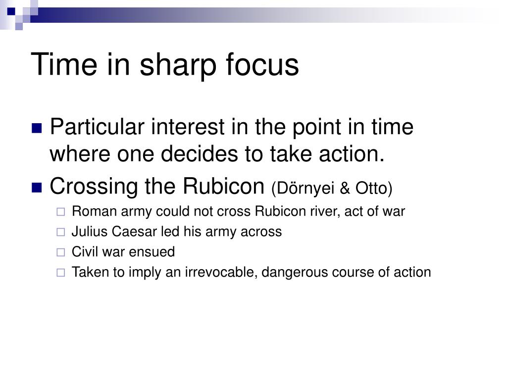 Time in sharp focus