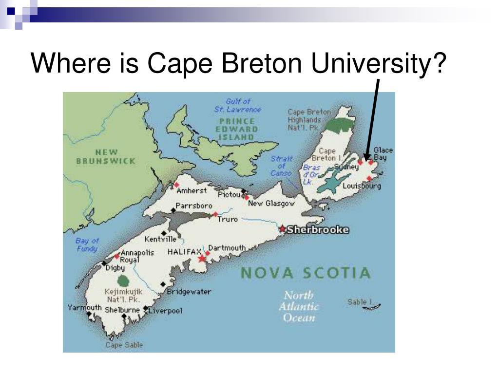 Where is Cape Breton University?