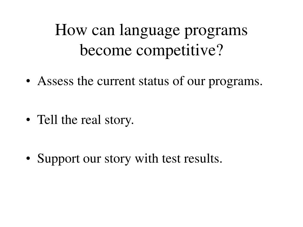How can language programs