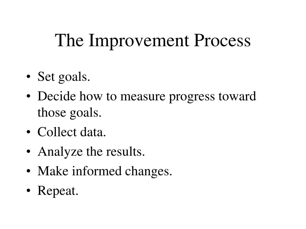 The Improvement Process
