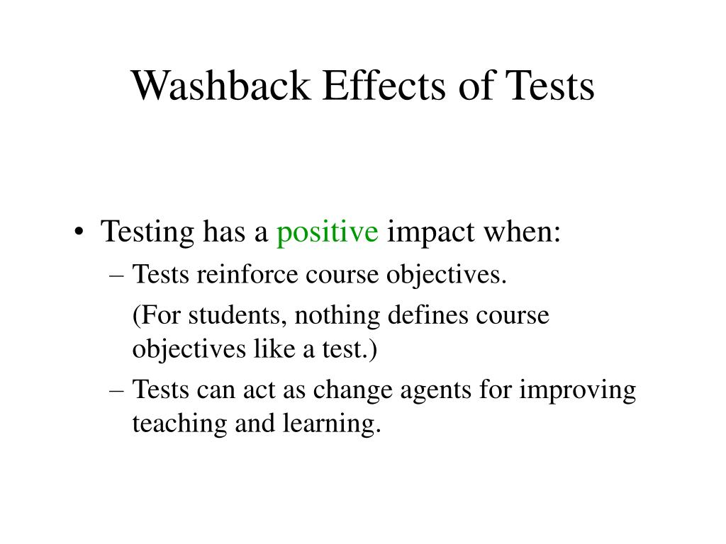 Washback Effects of Tests