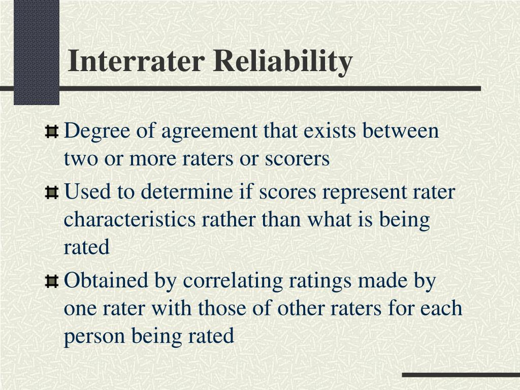 Interrater Reliability