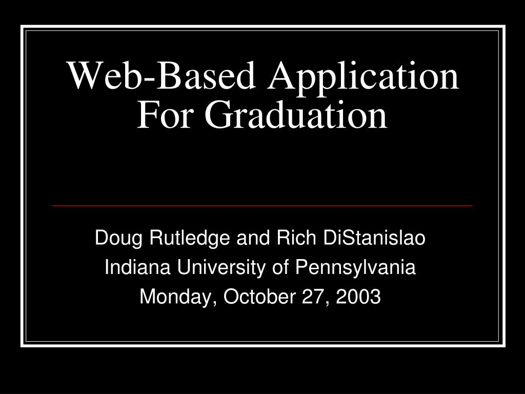 Web-Based Application For Graduation