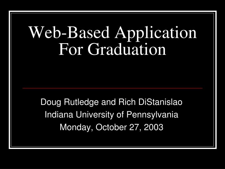 Web based application for graduation