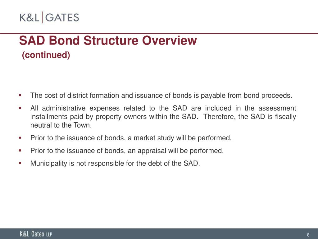 SAD Bond Structure Overview