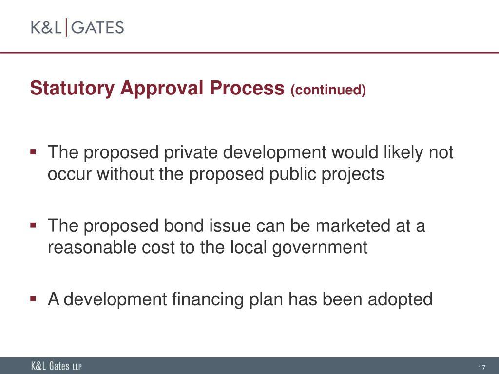 Statutory Approval Process