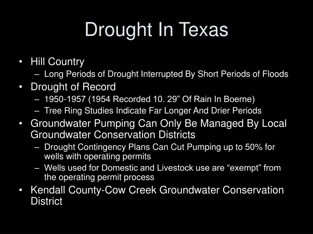 Drought In Texas